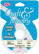 Craft & Jewelry Stretch Cord .8mm 50 Feet/Pkg-Clear by Cousin: Product Image