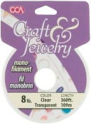 Craft & Jewelry Monofilament Cord #8 360 Feet/Pkg-Clear by Cousin: Product Image
