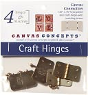 "Decor Canvas Craft Hinges-Brass 1.25""X.75"" 4/Pkg by Canvas Concepts: Product Image"