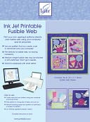 "Ink Jet Printable Fusible Web-8-1/2""X11"" 6/Pkg by June Tailor: Product Image"