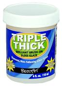 Triple Thick Brilliant Brush-On Gloss Glaze-4 Ounce Jar by Deco Art: Product Image