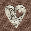 Blue Moon Reflections Metal Pendants-Heart Cutout Antique Silver 2/Pkg by Blue Moon Beads: Product Image
