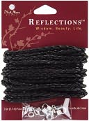 Blue Moon Reflections Braided Cording Kit-Black 3mm X 3 Yards/Pkg by Blue Moon Beads: Product Image