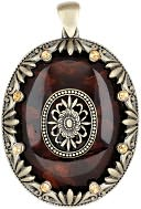 Blue Moon Global Nomad Pendant-Resin Oval W/Gold Edge 1/Pkg by Blue Moon Beads: Product Image