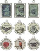 Blue Moon Poetiques Metal Graphic Charms 3/Pkg-Vintage #1 - Silver by Blue Moon Beads: Product Image