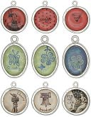 Blue Moon Poetiques Metal Graphic Charms 3/Pkg-Vintage #2 - Silver by Blue Moon Beads: Product Image