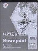 "Newsprint Paper Pad 9""X12""-150 Sheets-32lb by Reeves: Product Image"