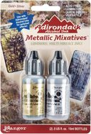 Adirondack Alcohol Ink Metallic Mixatives .5 Ounce 2/Pkg-Gold &amp; Silver by Ranger: Product Image
