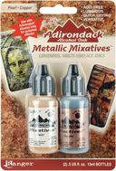 Adirondack Alcohol Ink Metallic Mixatives .5 Ounce 2/Pkg-Pearl &amp; Copper by Ranger: Product Image