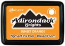 Adirondack Brights Pigment Inkpads-Sunset Orange by Ranger: Product Image