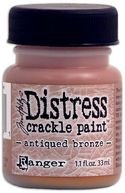 Distress Metallic Crackle Paint 1.1 Ounce Jar-Antique Bronze by Ranger: Product Image
