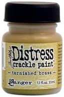 Distress Metallic Crackle Paint 1.1 Ounce Jar-Tarnished Brass by Ranger: Product Image