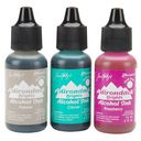 Adirondack Brights Alcohol Ink .5 Ounce 3/Pkg-Valley Trail-Raspberry/Pebble/Clover by Ranger: Product Image