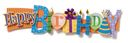 Birthday Stacked Statement Stickers 2.5&quot;X10&quot; by Karen Foster: Product Image