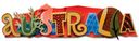 Australia Stacked Statement 3-D Title Sticker by Karen Foster: Product Image
