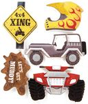 ATV Stacked Stickers 5/Pkg-4x4 by Karen Foster: Product Image