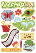 Backyard Fun Cardstock Stickers 5.5&quot;X9&quot;-Backyard Fun by Karen Foster: Product Image