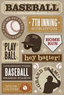 Baseball Cardstock Stickers 5.5&quot;X9&quot;-7th Inning Stretch by Karen Foster: Product Image