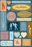 Adoption Cardstock Stickers 5.5&quot;X9&quot;-Adoption Is Love by Karen Foster: Product Image