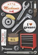 Auto Mechanic Cardstock Stickers 5.5&quot;X9&quot; Sheet by Karen Foster: Product Image
