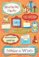 Birthday Cardstock Stickers 5.5&quot;X9&quot;-Blow Out The Candles by Karen Foster: Product Image