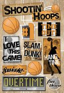 Basketball Cardstock Stickers 5.5&quot;X9&quot; Sheet-Hang Time by Karen Foster: Product Image