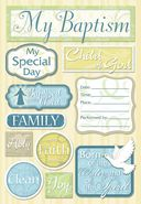 Baptism Cardstock Stickers 5.5&quot;X9&quot; Sheet-My Baptism by Karen Foster: Product Image