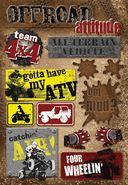 ATV Cardstock Stickers 5.5&quot;X9&quot; Sheet-Offroad Attitude by Karen Foster: Product Image