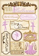 Ballet Cardstock Stickers 5.5&quot;X9&quot; Sheet-Prima Ballerina by Karen Foster: Product Image
