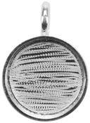 Designer's Small Circle Base 1/Pkg-Silver Overlay 19.17mm by Amate Studios: Product Image