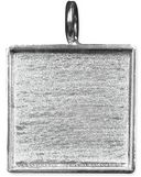 Designer's Large Square Base 1/Pkg-Silver Overlay 28mm by Amate Studios: Product Image