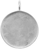 Base Elements Circle Pendant Base 1/Pkg-Silver Overlay 33.3mm by Amate Studios: Product Image
