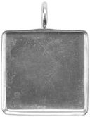 Base Elements Square Pendant Base 1/Pkg-Silver Overlay 31.77mm by Amate Studios: Product Image
