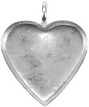 Base Elements Heart Pendant Base 1/Pkg-Silver Overlay 22.09x20.25mm by Amate Studios: Product Image