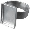 Base Elements Adjustable Rectangle Ring Base 1/Pkg-Silver Overlay 11x16.9mm by Amate Studios: Product Image