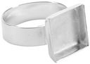 Base Elements Large Adjustable Square Ring Base 1/Pkg-Silver Overlay 12.7mm by Amate Studios: Product Image