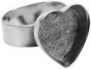 Base Elements Adjustable Heart Ring Base 1/Pkg-Silver Overlay 16.5x14mm by Amate Studios: Product Image