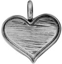 Designer's Mini Heart Base 1/Pkg-Silver Overlay 29x23mm by Amate Studios: Product Image