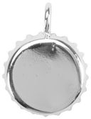 Bottle Cap Pendant-Silver Overlay by Amate Studios: Product Image