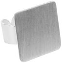 Designer's Flat Square Ring Base 1/Pkg-Silver Overlay 21.85mm by Amate Studios: Product Image
