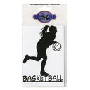 Cardstock Laser Die-Cuts-Basketball Girl by Scrapbook 101: Product Image