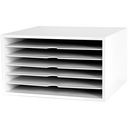 "Fashion Furnishings Paper Cube 13.5""X7.75""X12.5""-White 6-Shelf by Doodlebug: Product Image"