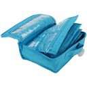 Quilted Cotton Large Organizer-7.2&quot;X9.5&quot;X3.2&quot; Aqua by Yazzii: Product Image