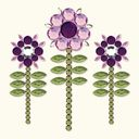 Bling It! Self-Adhesive Rhinestones-Sunflower/Lilac by Basic Grey: Product Image