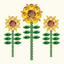 Bling It! Self-Adhesive Rhinestones-Sunflower/Curry by Basic Grey: Product Image