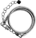 A Bead At A Time Silver Finish Bracelet 1/Pkg-7.5&quot; Snake Chain by Janlynn: Product Image