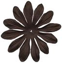 Bazzill Paper Flowers-Brown Gerbera 3&quot; 6/Pkg by Bazzill: Product Image