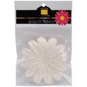 Bazzill Paper Flowers-French Vanilla Gerbera 3&quot; 6/Pkg by Bazzill: Product Image