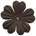 Bazzill Paper Flowers-Brown Primula 1&quot; 10/Pkg by Bazzill: Product Image