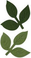 Bazzill Paper Flowers-Branch Leaves 6/Pkg by Bazzill: Product Image